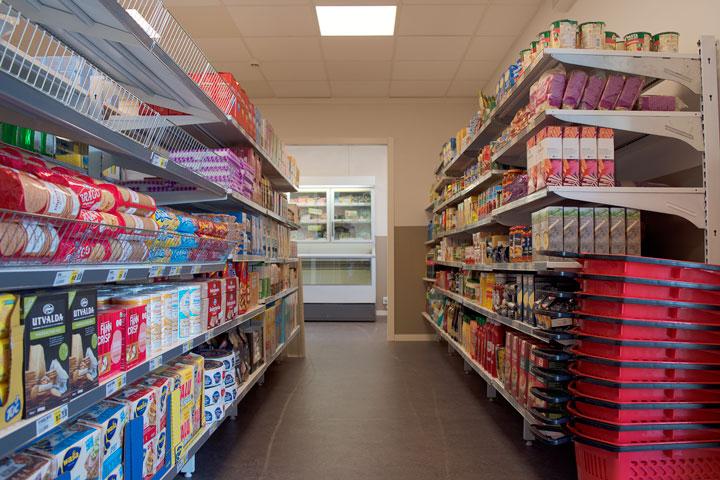Interiör matbutik
