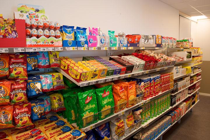 Godsaker i matbutik